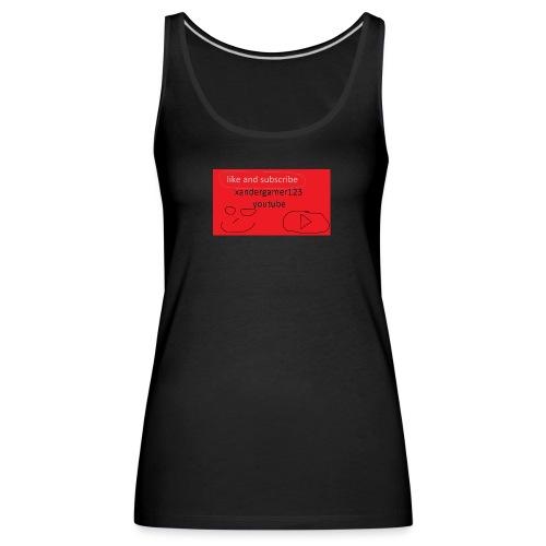 xandergamer123 support clothes - Women's Premium Tank Top