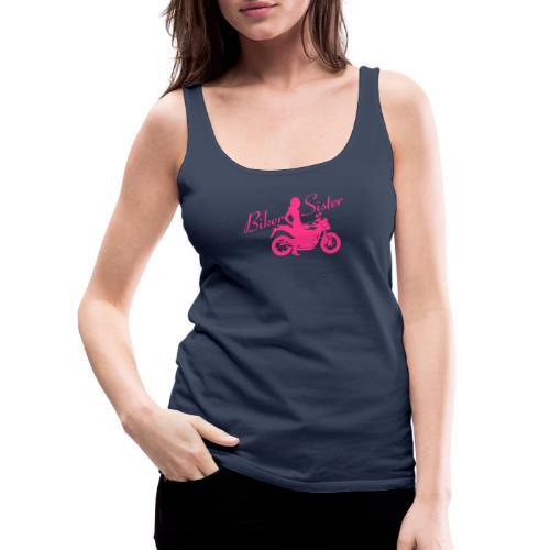 Biker Sister - Naked bike - Naisten premium hihaton toppi