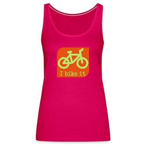 fiets logo - Vrouwen Premium tank top