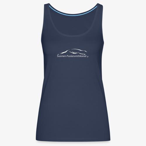 SUP logo valkea - Naisten premium hihaton toppi