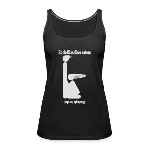 Blowing in the wind - weiss - Frauen Premium Tank Top