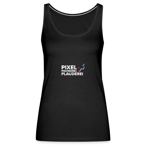 Pixel Polygone Plauderei Logo Weiß - Frauen Premium Tank Top