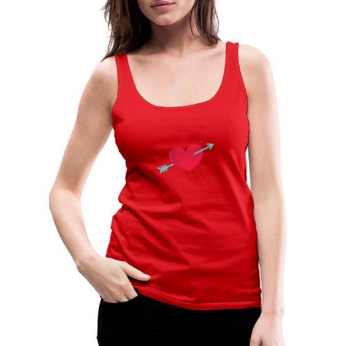 Corazón atravesado por una flecha - Camiseta de tirantes premium mujer