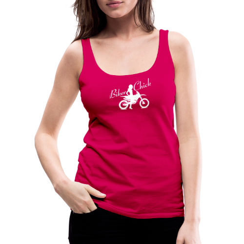 Biker Chick - Dirt bike - Naisten premium hihaton toppi