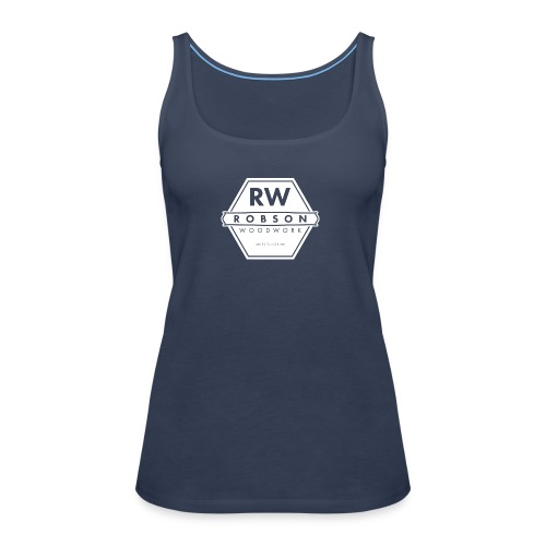 RW Logo In White - Women's Premium Tank Top