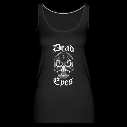 dead eyes logo transparent2 weiß - Frauen Premium Tank Top