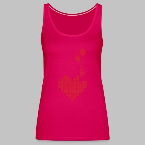 heart and balloons - Women's Premium Tank Top