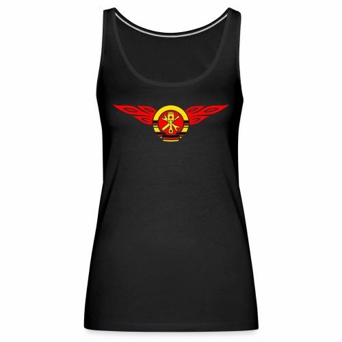Car flames crest 3c - Women's Premium Tank Top