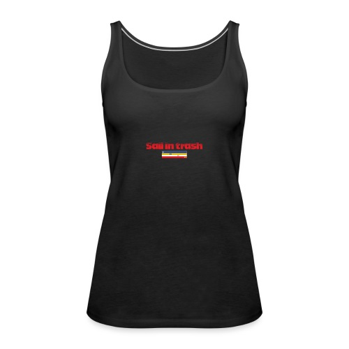 SAIL IN TRASH LOGO ROJO - Camiseta de tirantes premium mujer