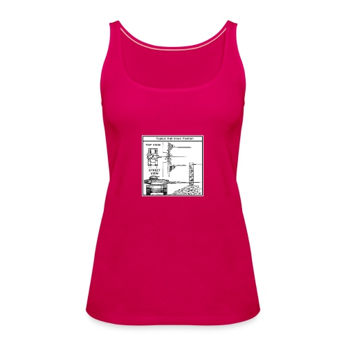 W.O.T War tactic, tank shot - Women's Premium Tank Top