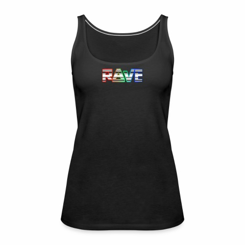 Rave Neon Rainbow Psy Text Techno Family - Frauen Premium Tank Top