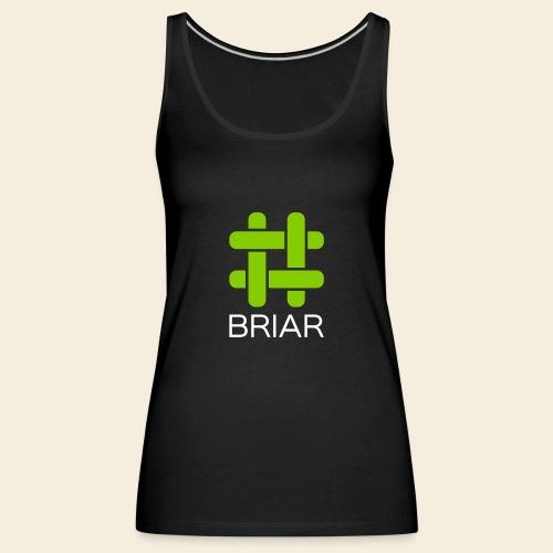 Briar Logo White - Women's Premium Tank Top