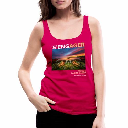 1 Achat = 1 Don à l'association Coeur de forêt - Débardeur Premium Femme