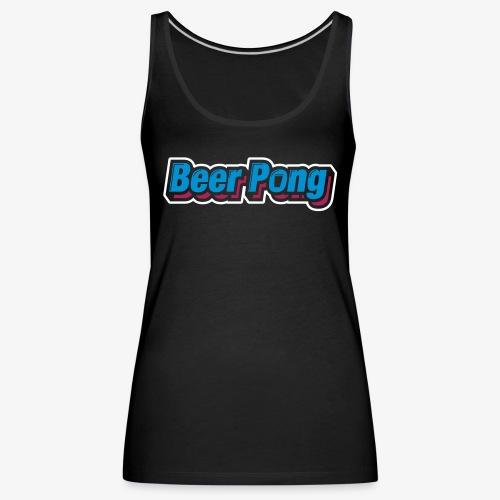 Beer Pong Logo X - Frauen Premium Tank Top
