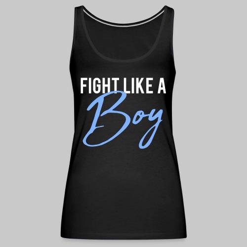 2reborn Fight like a Boy Junge Menpower Hero Gym S - Frauen Premium Tank Top
