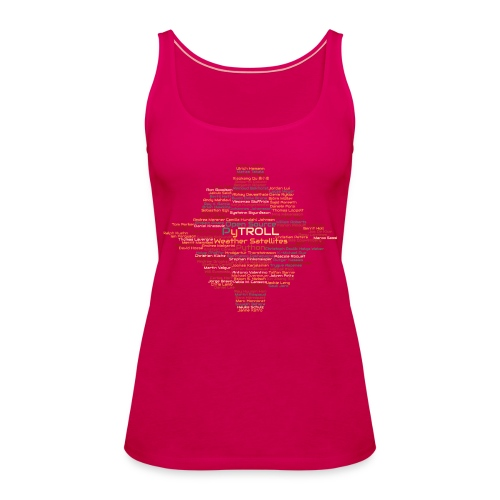 Pytroll wordcloud march 2019 - Women's Premium Tank Top
