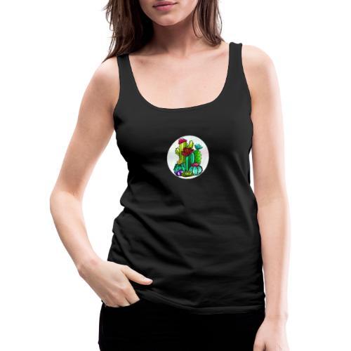 Cactus and flowers - Camiseta de tirantes premium mujer