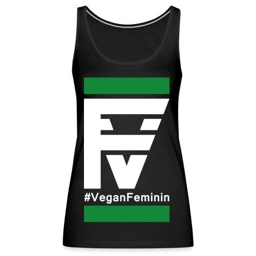 VeganFeminin2 png - Frauen Premium Tank Top