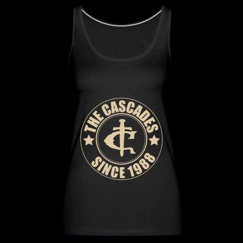 The Cascades Logo Shirt since 1988 vintage white - Women's Premium Tank Top