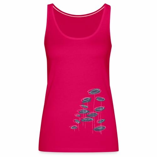 abstract bloemen 004 - Vrouwen Premium tank top