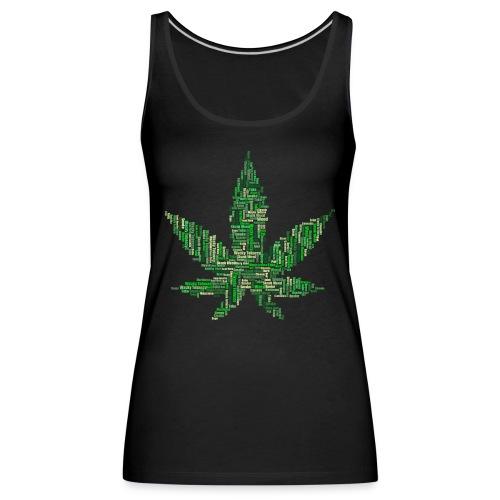 marijuana 2754247 1920 - Frauen Premium Tank Top