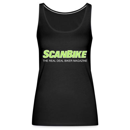 ScanbikeGreen&white - Premium singlet for kvinner