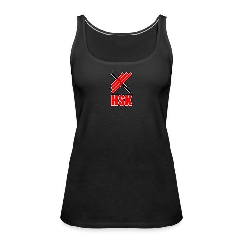 Huddinge styrkelyftklubb 2 logotyper - Premiumtanktopp dam