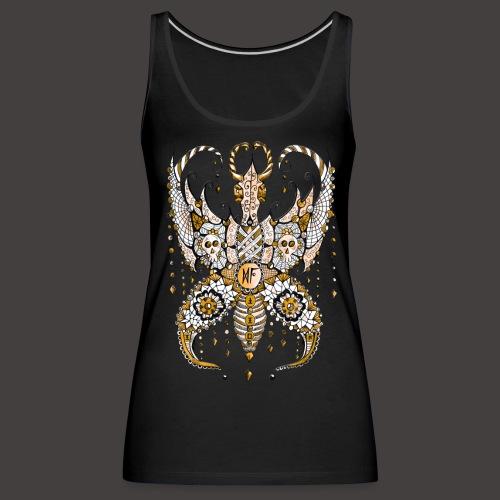 Papillon Lilou Dore - Débardeur Premium Femme