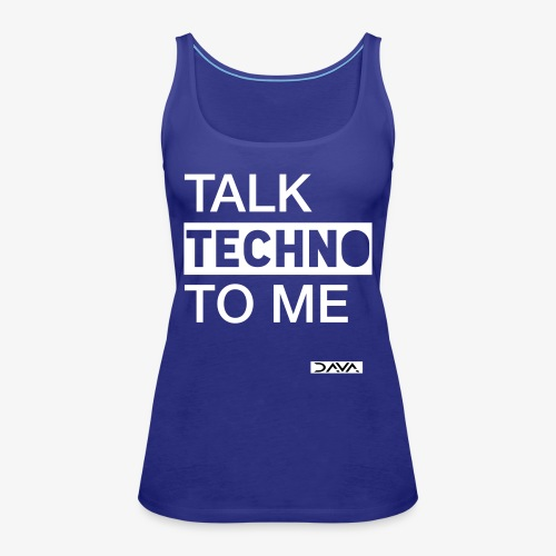 Talk Techno - white - Women's Premium Tank Top