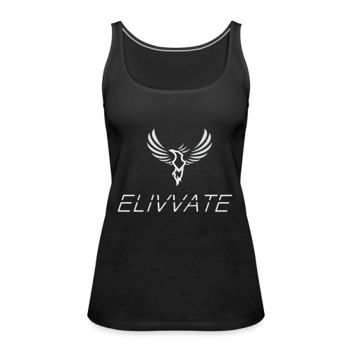 White logo no background - Women's Premium Tank Top