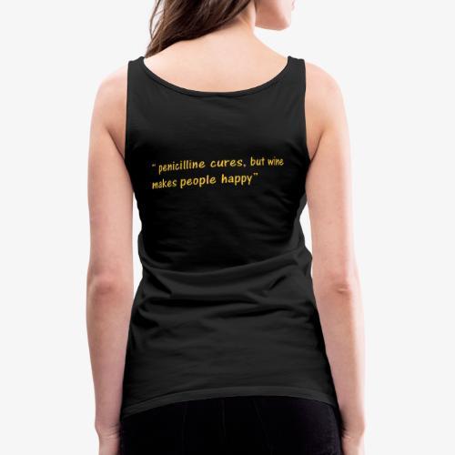 Happy Wine quote - Women's Premium Tank Top