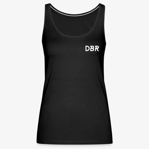 DBR Schrift weiss png - Frauen Premium Tank Top