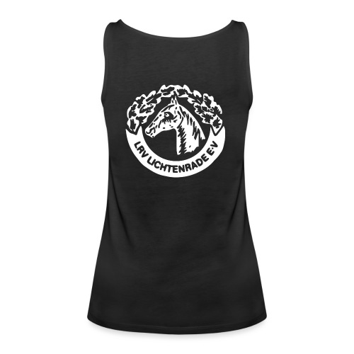 horse_logo_white_big - Frauen Premium Tank Top
