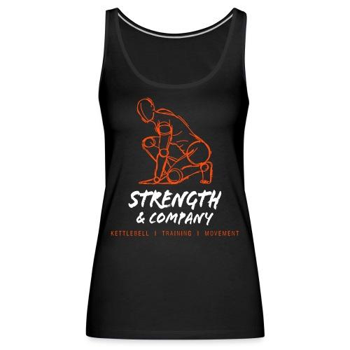 STRENGTH Company logo - Vrouwen Premium tank top