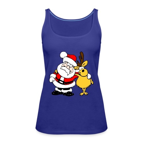 Santa and Reindeer - Women's Premium Tank Top