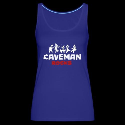 Caveman weisses logo - Frauen Premium Tank Top