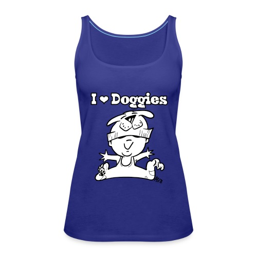 baby i love doggies - Vrouwen Premium tank top
