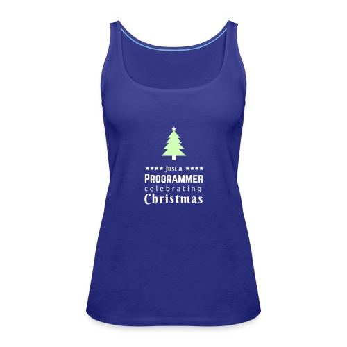 Funny Christmas t shirt for the progrmmers - Women's Premium Tank Top