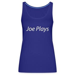Joe Plays White logo - Premium singlet for kvinner