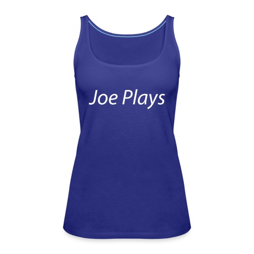 Joe Plays White logo - Premium singlet for kvinner