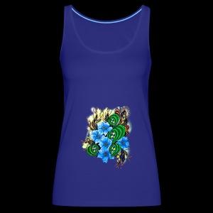 abstract flowers - Women's Premium Tank Top