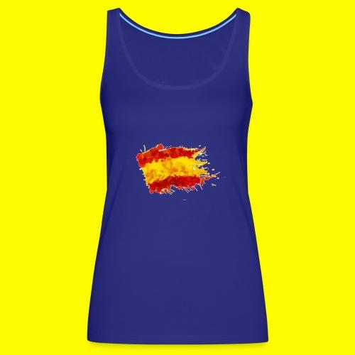 españa bandera trazada - Camiseta de tirantes premium mujer