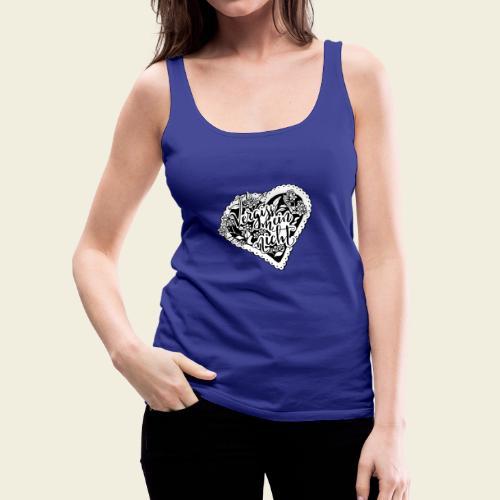 Vergissmeinnicht-Herz mit weißem Hintergrund - Frauen Premium Tank Top
