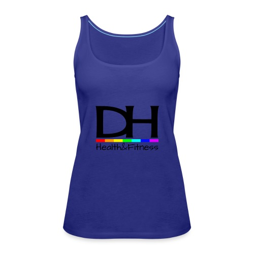 DH Health&Fitness Large logo - Women's Premium Tank Top