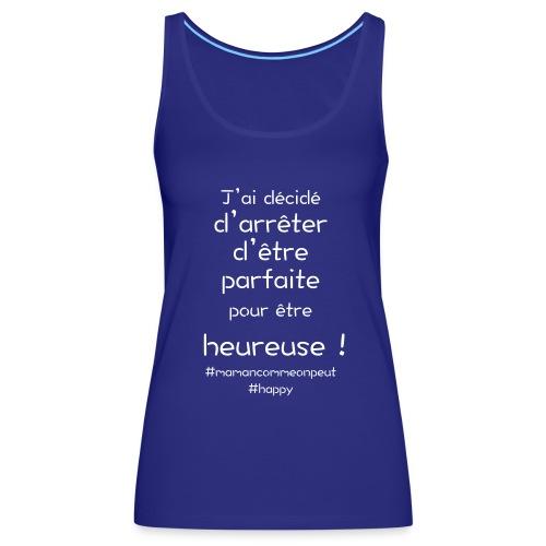 t-shirt_happy_white - Débardeur Premium Femme