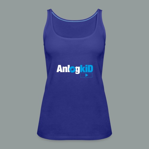 Anlogkid_Logo_Blau - Frauen Premium Tank Top