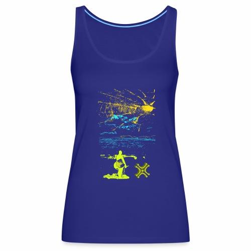 Sol y Mar de Adiswebs - Camiseta de tirantes premium mujer