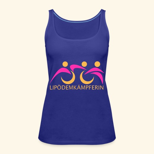Logo Triathlon Geld - Frauen Premium Tank Top
