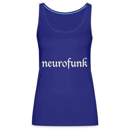 Neurofunk White - Tank top damski Premium