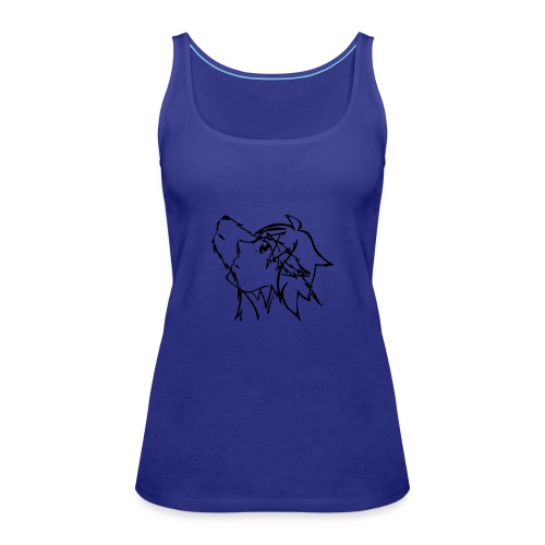 With the eyes of a wolf - Frauen Premium Tank Top